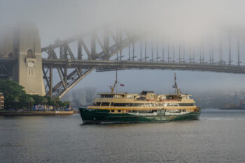 Manly Ferry under Sydney Harbour Bridge
